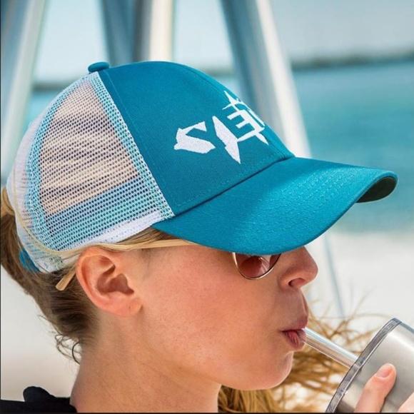 8686a347 Yeti Accessories   Coolers Tarpon Trucker Hat Teal Snapback   Poshmark